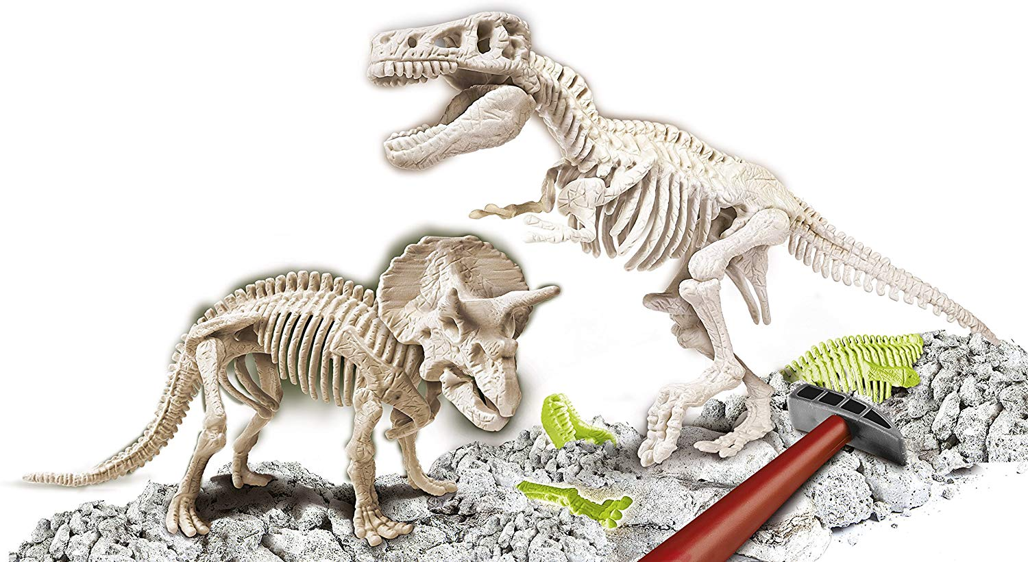 ARCHEO-LUDIC T-REX AND TRICERATOPS