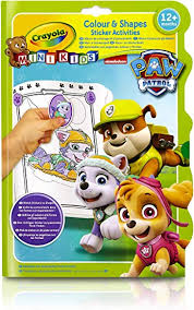 Crayola Colour & Shapes Stickers Activities Paw Patrol